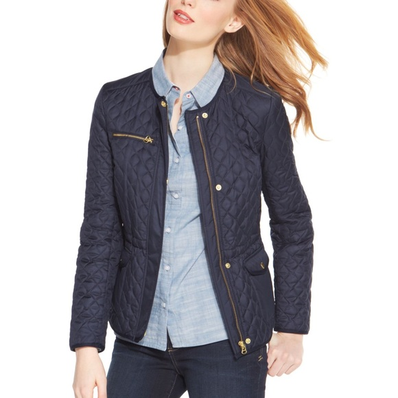 Tommy Hilfiger Jackets Coats Collarless Quilted Barn Jacket
